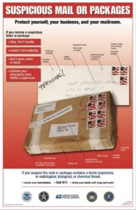 03132018 - Police urging extreme caution with suspicious packages, envelopes